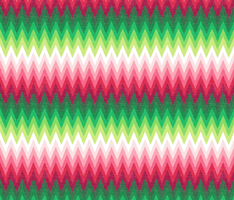 Christmas red + green zig zags fabric by veritymaddox on Spoonflower - custom fabric