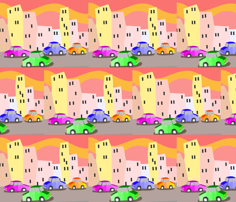 BUSY CITY fabric by bluevelvet on Spoonflower - custom fabric