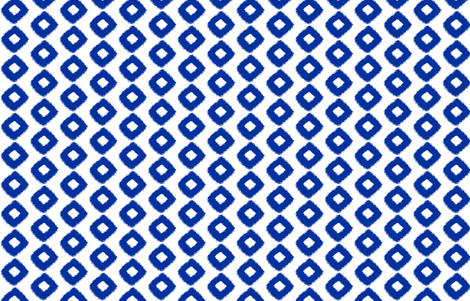 Ikat Square Cobalt fabric by lulabelle on Spoonflower - custom fabric