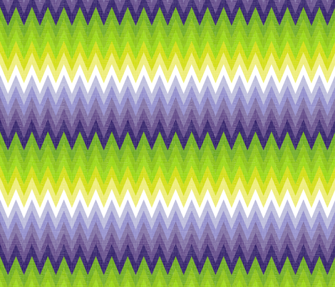Ombre zig zag purple + chartreuse fabric by veritymaddox on Spoonflower - custom fabric