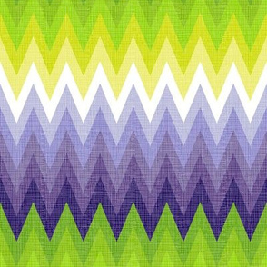 Ombre zig zag purple + chartreuse