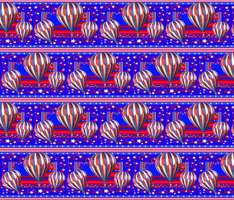 STARS N STRIPES BALLOONS fabric by bluevelvet on Spoonflower - custom fabric