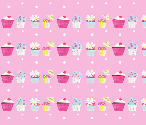 Cupcake Stripes fabric by arttreedesigns on Spoonflower - custom fabric