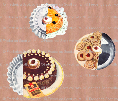 70's Cake Collage