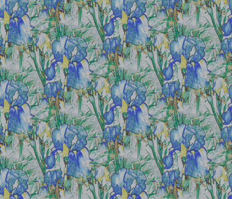 Iris Tile fabric by rennata on Spoonflower - custom fabric