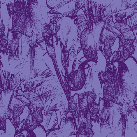 Iris two tone fabric by rennata on Spoonflower - custom fabric