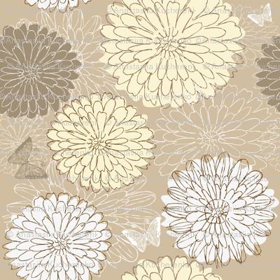 doodle flowers in vector