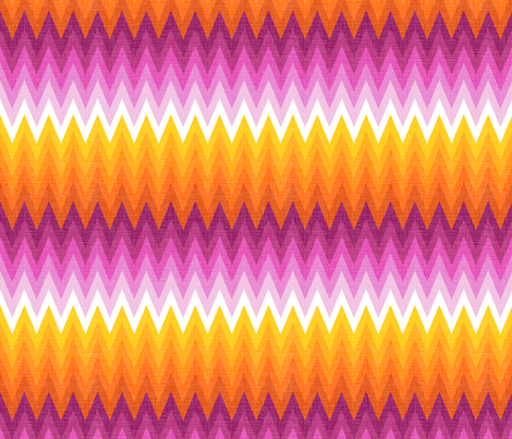 Ombre zig zag orange + pink fabric by veritymaddox on Spoonflower - custom fabric