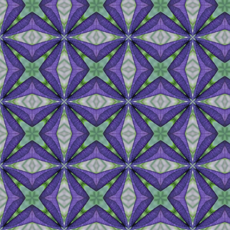 Iris Matrix: Flower symbols fabric by dovetail_designs on Spoonflower - custom fabric