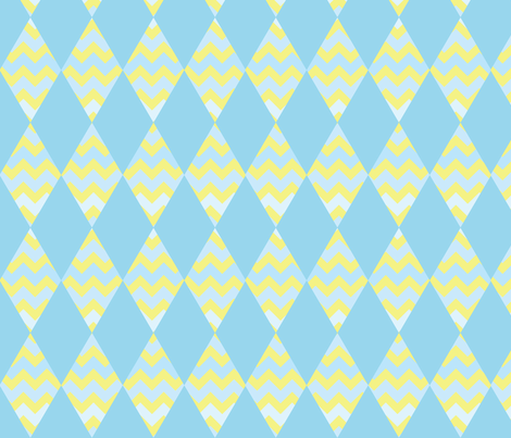 chevron-diamonds3 fabric by owlandchickadee on Spoonflower - custom fabric