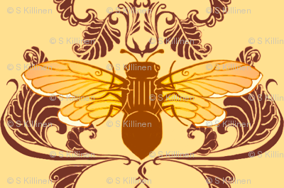 Autum Cicada Damsask