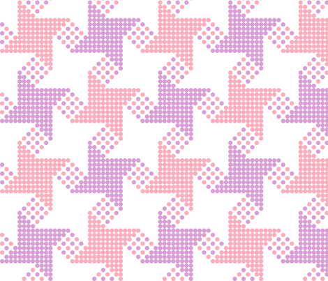 houndstooth - pink purple fabric by gingerme on Spoonflower - custom fabric