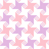 houndstooth - pink purple