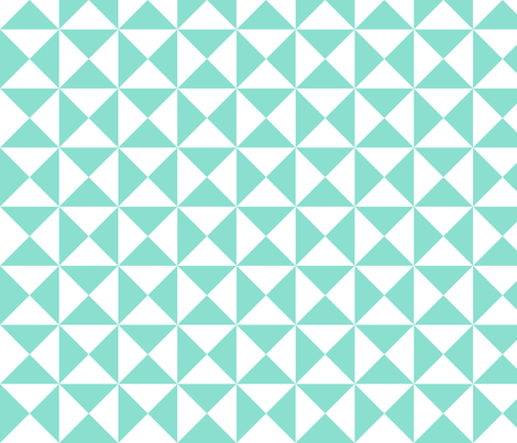 yankee puzzle - mint fabric by gingerme on Spoonflower - custom fabric