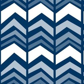 deconstructed chevron - navy