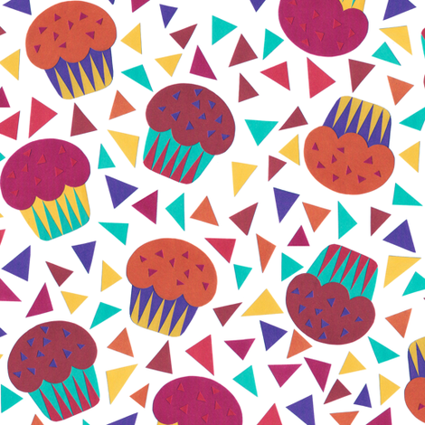 Party-Cupcakes fabric by kimsa on Spoonflower - custom fabric