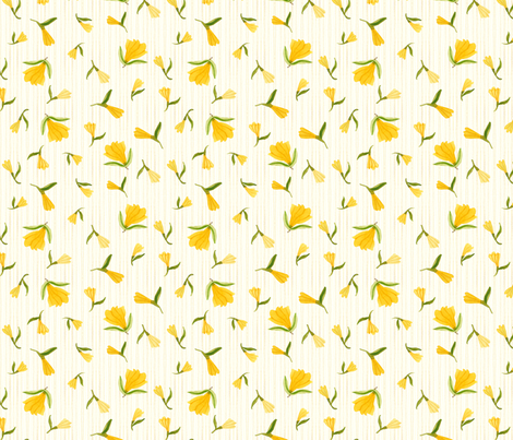 Dainty Blossoms Natural - Frolic Collection fabric by gollybard on Spoonflower - custom fabric