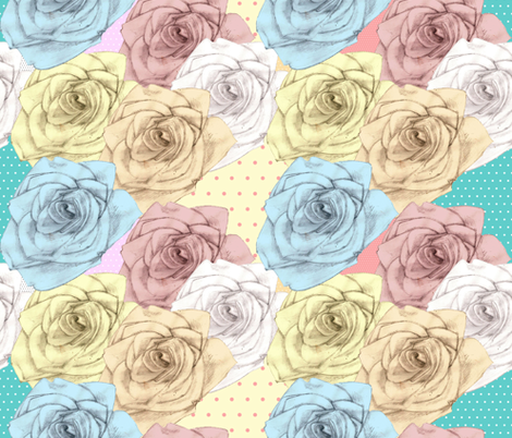 Shabby Rose fabric by glanoramay on Spoonflower - custom fabric