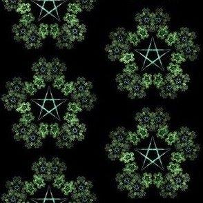 Pentagram Wreath Green