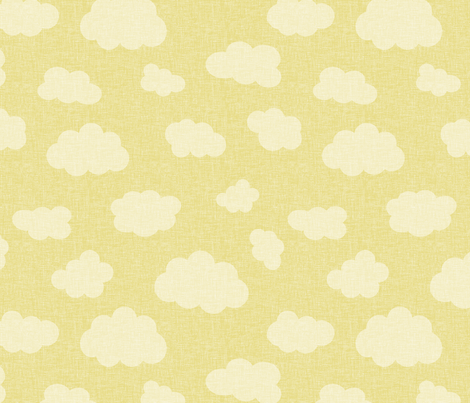 clouds_yellow fabric by glorydaze on Spoonflower - custom fabric