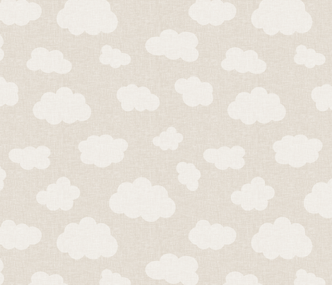 clouds_beige fabric by glorydaze on Spoonflower - custom fabric