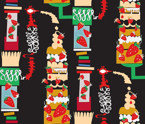 Tall Shortcake Machine fabric by boris_thumbkin on Spoonflower - custom fabric