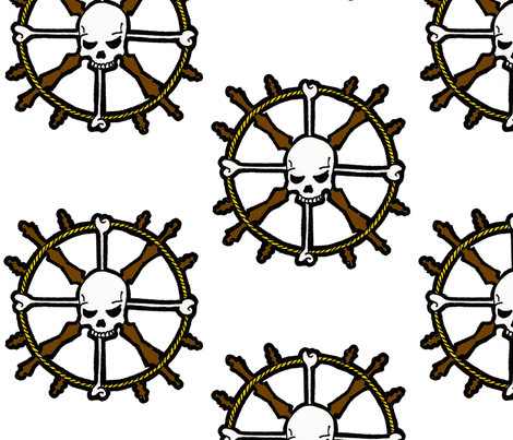 Skull Helm fabric by little_treasures on Spoonflower - custom fabric