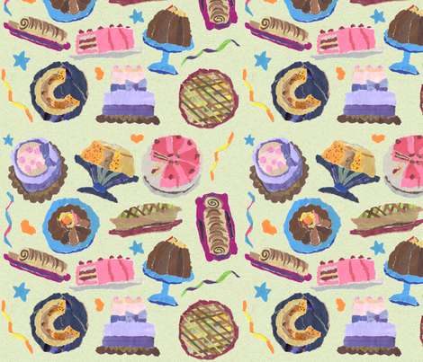 my_cakes_patt_gr fabric by heart_full_of_soul on Spoonflower - custom fabric