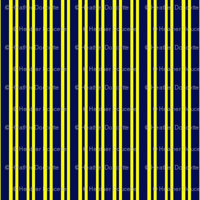 Navy Yellow Stripes