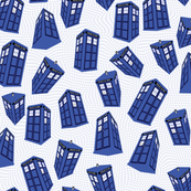 Doctor Who - Spinning tardis on white