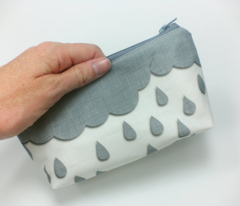 Rainclouds in gray linen