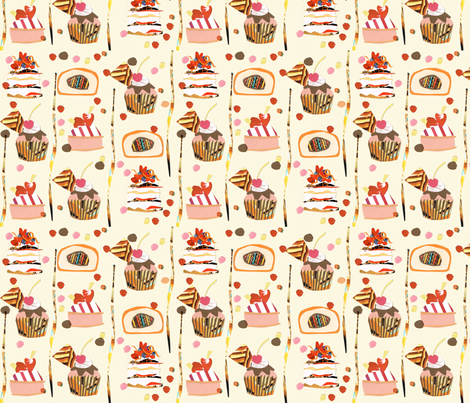 cakes fabric by colorette2 on Spoonflower - custom fabric