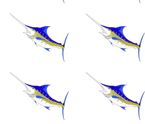 Marlin fabric by little_treasures on Spoonflower - custom fabric