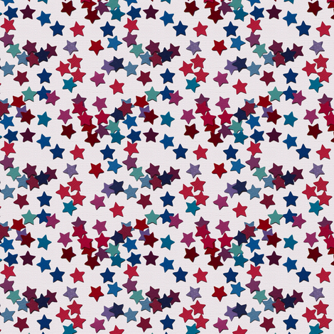 paper star sprinkles - cream fabric by coggon_(roz_robinson) on Spoonflower - custom fabric