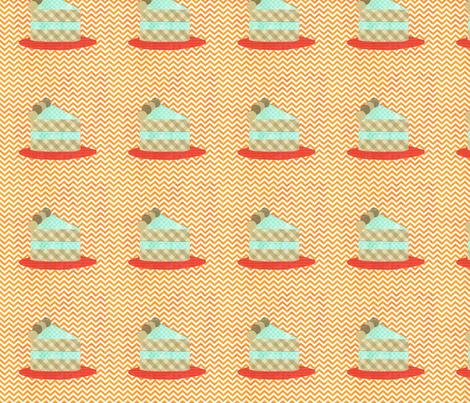 cake collage orange slice fabric by krihem on Spoonflower - custom fabric