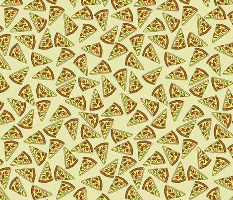 Scattered pizza slices fabric by spacefem on Spoonflower - custom fabric