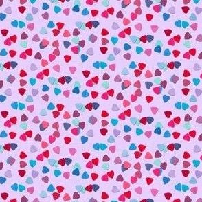paper heart sprinkles - pink