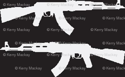 guns white on black