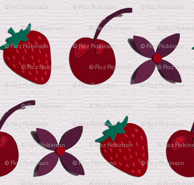 Cherries, Strawberries and flowers!