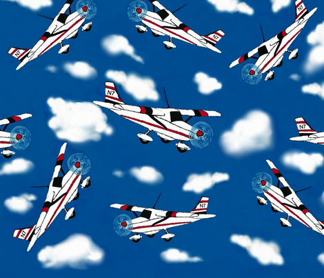 Air Show Acrobats fabric by paragonstudios on Spoonflower - custom fabric
