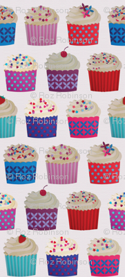 and a cherry on top - cupcakes on white paper