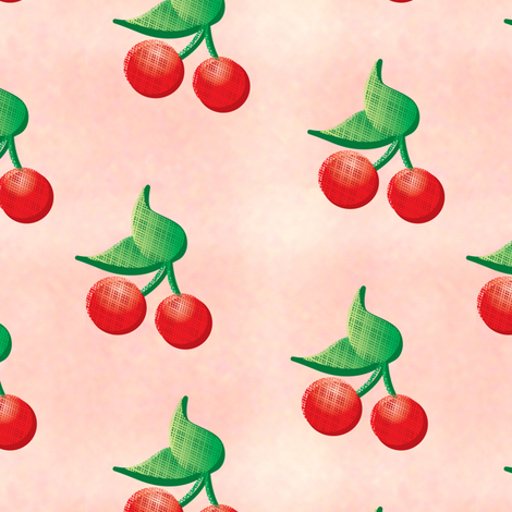 abunchofcherries fabric by feathers_of_a_lark on Spoonflower - custom fabric