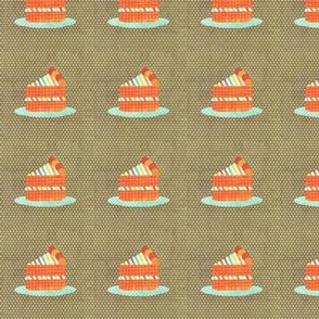 cake slice brown