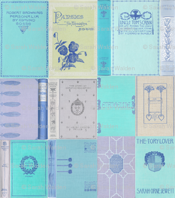 Madame Fancypantaloons' Instant Library Bindings & Covers ~ Blue