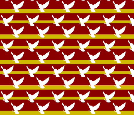 Hedwig Gryffindor fabric by meaganrogers on Spoonflower - custom fabric