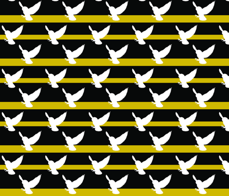 Hedwig Hufflepuff fabric by meaganrogers on Spoonflower - custom fabric