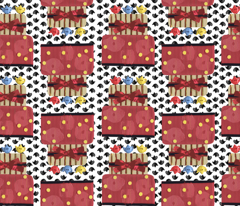 TeaCakeCollage fabric by ruthless_art on Spoonflower - custom fabric