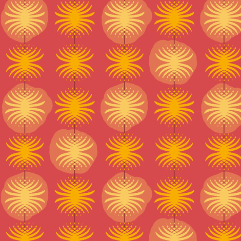 Posser (Coral) fabric by david_kent_collections on Spoonflower - custom fabric