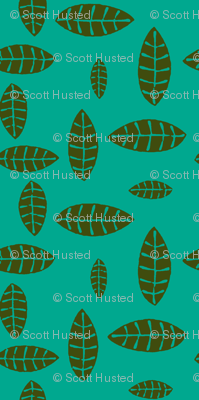 Jungle Leaves green, turquoise