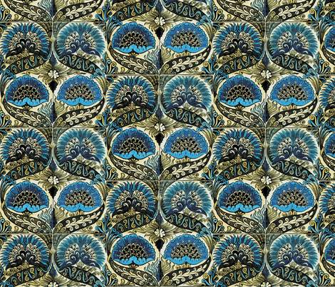 Mongolian Blue fabric by flyingfish on Spoonflower - custom fabric
